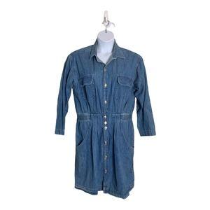 Vintage GEOFFREY BEENE SPORT  Denim  Dress SZ  14